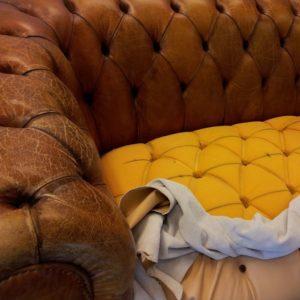 Originalgetreue Restauration von historischen & modernen Ledermöbeln, wie z.B. einer Chesterfield-Couch